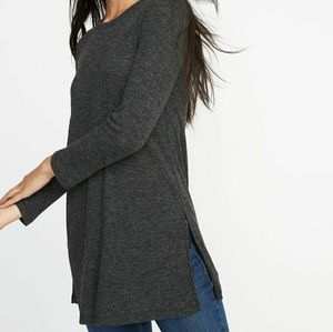 Tops - 2/$18 Long and Lean Charcoal Tunic   Large
